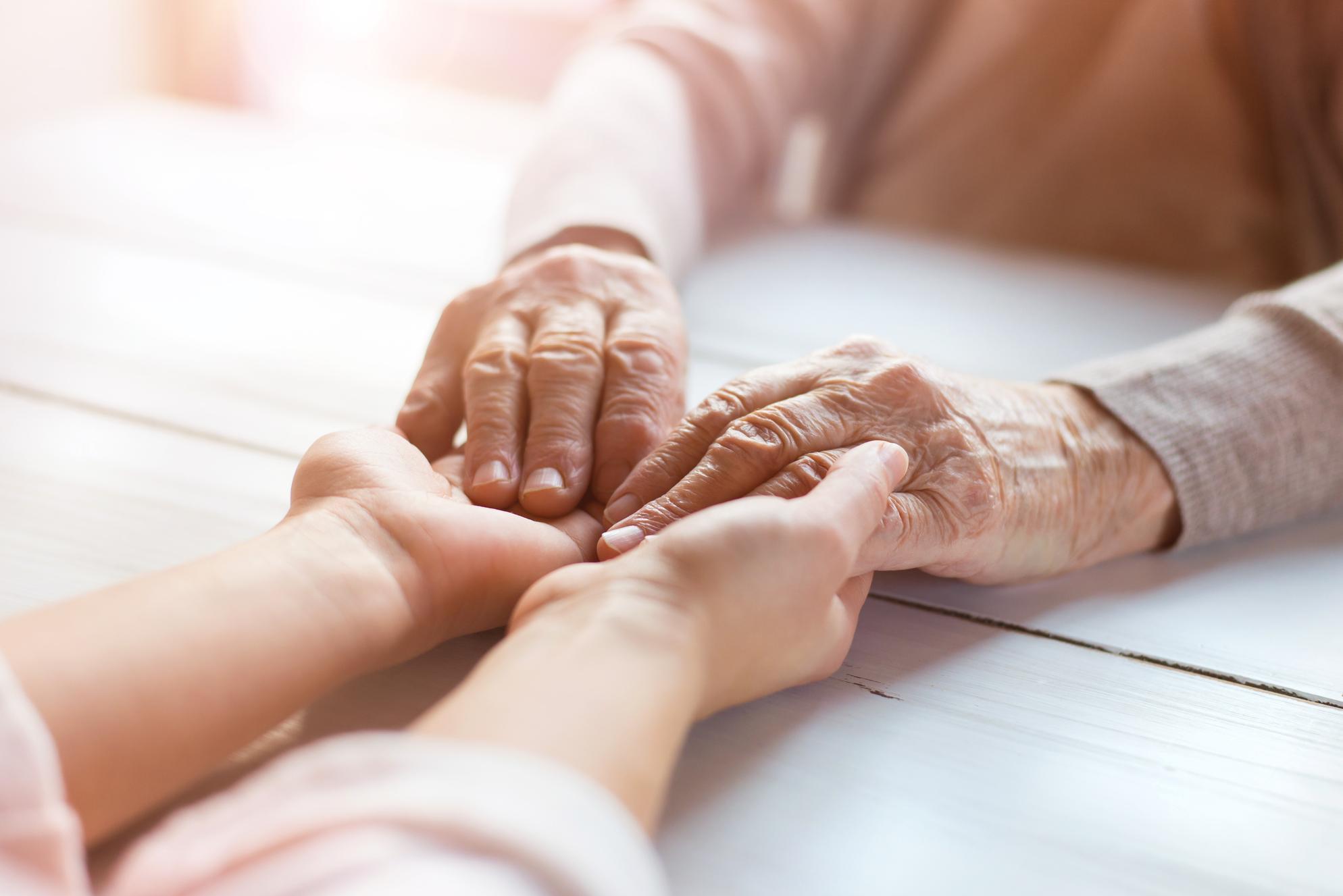 Grandma hand hold